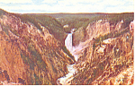 Click here to enlarge image and see more about item p15499: Grand Canyon,Yellowstone National Park Postcard
