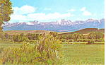 Crazy Mountains Montana Postcard
