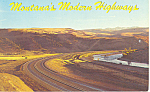 Click here to enlarge image and see more about item p15515: Montana's Interstate Highway Postcard