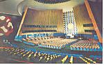 Click here to enlarge image and see more about item p15528: United Nations General Assembly Hall Postcard