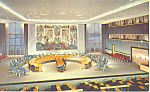 Click here to enlarge image and see more about item p15529: United Nations Security Council Chamber Postcard