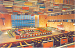 Click here to enlarge image and see more about item p15530: United Nations Trusteeship Council Chamber Postcard p15530