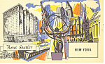 Hotel Statler New York City NY Postcard p15536