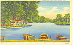 Grand Island,NE, Schimmers Lake Postcard 1946
