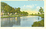 Click here to enlarge image and see more about item p15550: Columbus NE Lake in Pawnee Park Postcard p15550 1946