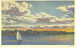 Omaha, NE, Carter Lake Postcard 1948