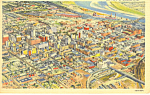 Omaha, NE, Air View Postcard 1959