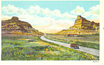 Mitchell Pass,Scotts Bluff  NE, Postcard