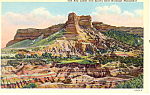 Click here to enlarge image and see more about item p15564: Bad Lands and Scott s Bluff  NE Postcard p15564