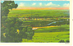 View from Scotts Bluff  NE, Postcard