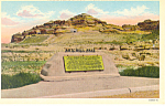 Mitchell Pass Monument,Scotts Bluff  NE, Postcard