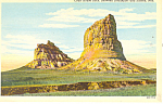Click here to enlarge image and see more about item p15570: Courthouse Rock,  NE, Postcard