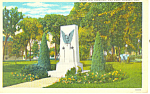 Click here to enlarge image and see more about item p15572: World War Memorial, Fremont  NE, Postcard