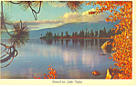Click here to enlarge image and see more about item p15577: Sunset at Lake Tahoe, NV Postcard 1967