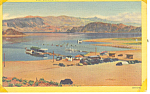 Click here to enlarge image and see more about item p15586: Boat Landing Lake Mead, Boulder City NV Postcard p15586