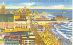 Click here to enlarge image and see more about item p15594: Air View,Atlantic City, NJ Postcard 1960s