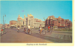 Click here to enlarge image and see more about item p15602: Bicycling on Boardwalk Atlantic City, NJ Postcard 1963