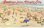 Click here to enlarge image and see more about item p15608: Beach Atlantic City NJ Postcard p15608 1961