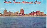 Click here to enlarge image and see more about item p15611: Skyline of  Atlantic City NJ Postcard p15611 ca 1964