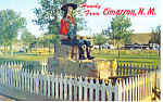 Click here to enlarge image and see more about item p15651: Lucien B Maxwell Statue Cimarron NM Postcard p15651