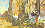Click here to enlarge image and see more about item p15661: Frijoles Canyon, NM  Postcard 1955