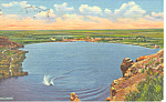 Click here to enlarge image and see more about item p15664: Bottomless Lake State Park NM  Postcard p15664 1958