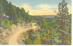 Click here to enlarge image and see more about item p15671: Sandia Loop Road NM  Postcard p15671 1938