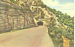 Click here to enlarge image and see more about item p15674: Tunnel on Cloucraft Highway, NM  Postcard 1954