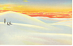 Click here to enlarge image and see more about item p15675: Sunset on White Sands National Monument, NM  Postcard