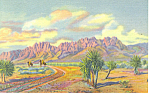 Organ Mountains, Las Cruces,NM  Postcard