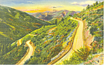 Click here to enlarge image and see more about item p15683: Switchbacks,Red River Pass,NM  Postcard 1943