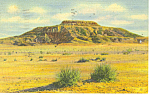 Tucumcari Mountain,NM  Postcard 1952