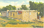 Click here to enlarge image and see more about item p15687: Jacals, Mud Huts,NM  Postcard 1942
