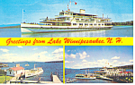 Boats of Lake Winnipesaukee Postcard 1976