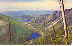 Echo Lake  Franconia Notch,NH  Postcard 1954