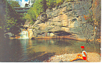 Pool and Bridge, Franconia Notch,NH  Postcard