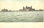 Ellis Island, ew York Harbor NY  Postcard p15810