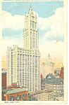 Woolworth Bldg,New York City, NY  Postcard 1925