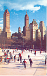 Click here to enlarge image and see more about item p15838: Skating in Central Park New York City NY  Postcard p15838