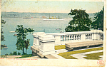 Click here to enlarge image and see more about item p15849: Hudson River From Riverside Drive NY  Postcard p15849