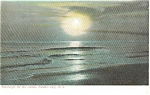 Click here to enlarge image and see more about item p1584: Atlantic City NJ Moonlight on Water Postcard