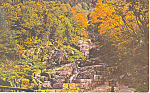 Flume Cascade , Crawford Notch,NH  Postcard 1975