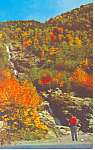 Silver Cascade,Crawford Notch,NH  Postcard