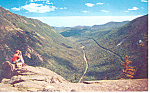 Crawford Notch,from Mt Willard NH  Postcard 1964