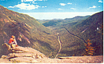 Crawford Notch,from Mt Willard NH  Postcard 1960