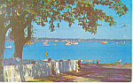 Lower Harbor, Portsmouth, NH Postcard 1965