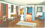 Bedroom,NH Historical Society, Concord Postcard