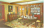 Dining Room,NH Historical Society, Concord Postcard