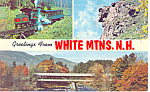 Views of White Mountains,NH Postcard