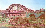 Notre Dame Bridge, Manchester, NH Postcard